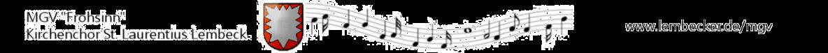"""MGV """"Frohsinn"""" – Kirchenchor Lembeck"""