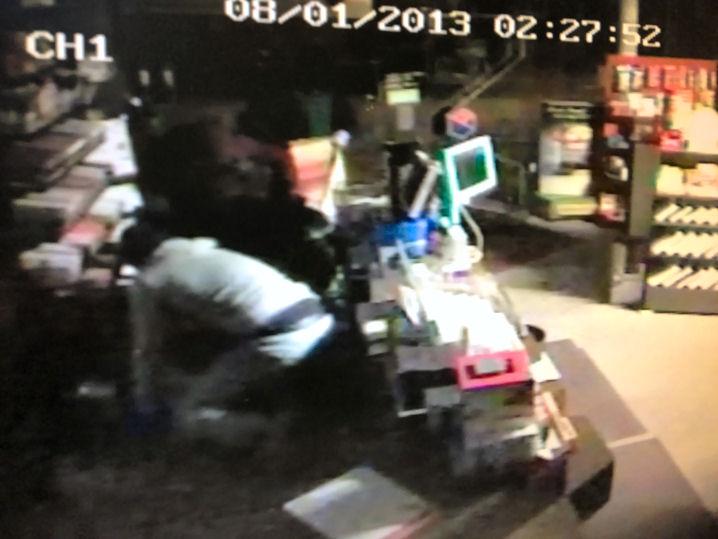 Screenshot vom Überwachungsvideo