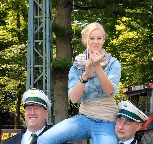Die neue Königin Anke Punsmann. (Foto: Michael Klein - Dorstener Zeitung)