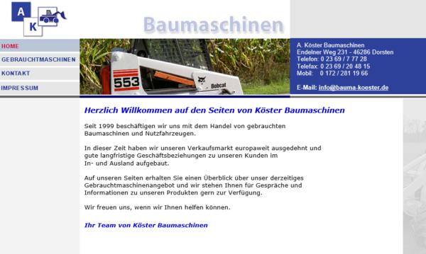 Andreas Köster – Baumaschinenhandel