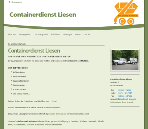 Containerdienst Liesen – Inh. Mario Kohl e.K.