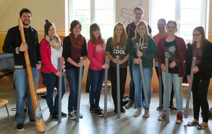 Auf dem Foto: Einige Teilnehmer der Vormittags-Gruppe