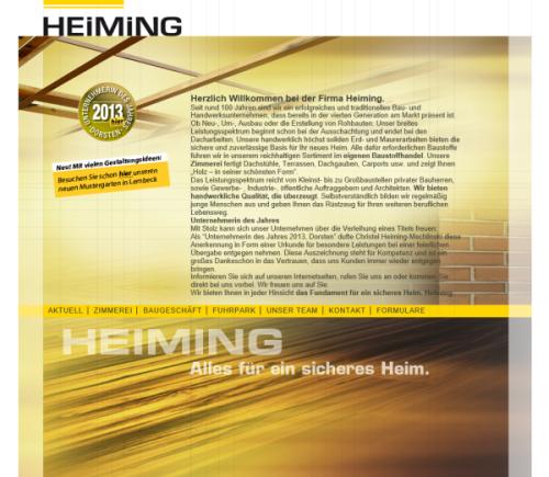Joh. Heiming GbR (Baugeschäft & Zimmerei) + Joh. Heiming KG (Holz- und Baustoffhandel)