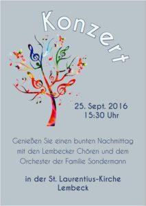 Konzert der Lembecker Chöre @ St. Laurentius Kirche Lembeck