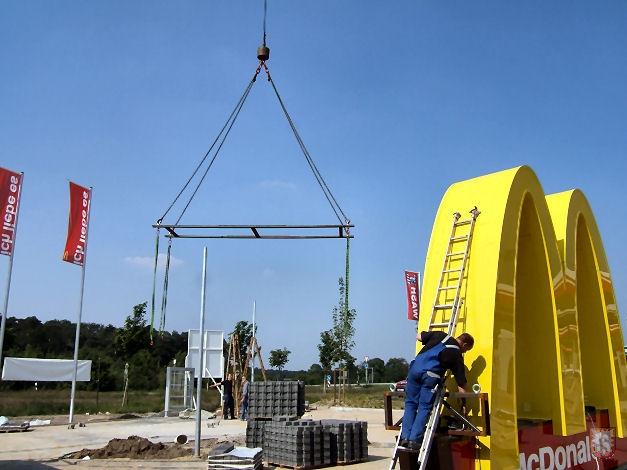 Die letzten Handgriffe in der Bauphase 2006 (Foto: Lembecker.de - Frank Langenhorst)