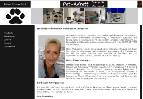 Pet-Adrett – Beauty für den Hund