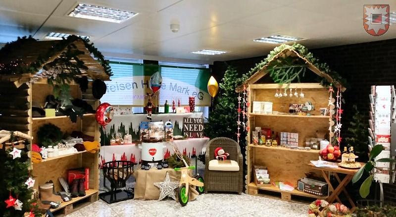 Der Gewinner-Weihnachtsmarkt der Raiffeisen im Dortmunder WDR4-Studio (Foto: Sebastian Brengenberg)