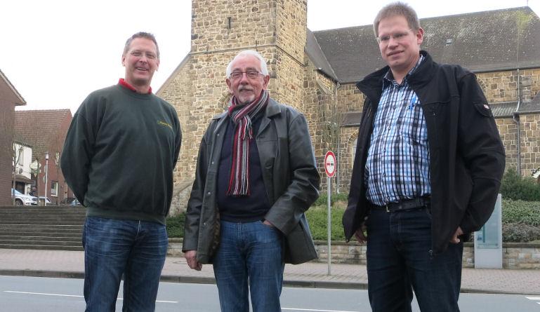 Foto: Friedrich Cosanne - von links nach rechts: Koos Prins, Heinz Bröker, Peter Süthold