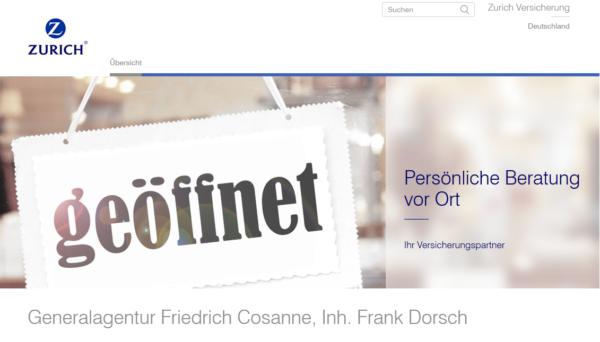 Zurich Versicherungen – Generalagentur Friedrich Cosanne, Inh. Frank Dorsch