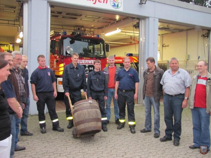 Etliche Planungsabende, wie hier am Feuerwehrgerätehaus Wulfen, machten das Event perfekt. (Foto: Frank Langenhorst)
