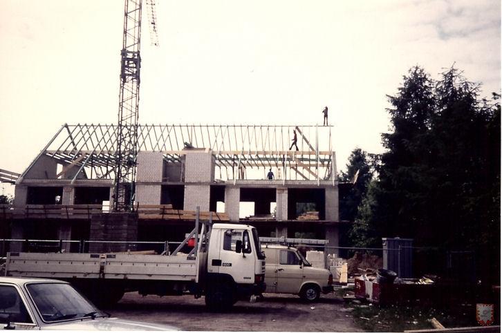 Das Ärztehaus in der Bauphase Mai 1991 - Foto © : U. Küsters, Scan: Frank Langenhorst