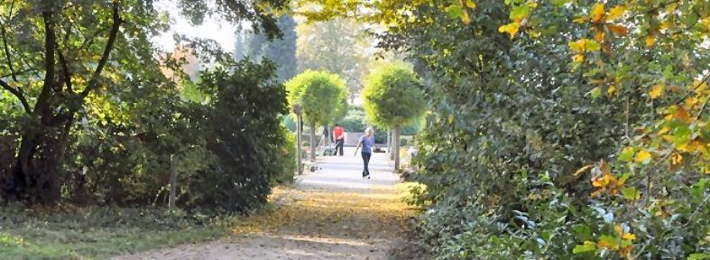 Mitglieder des Kirchenvorstands machten den Weg zum Friedhof in Lembeck besser begehbar. Foto: Franz Meinert