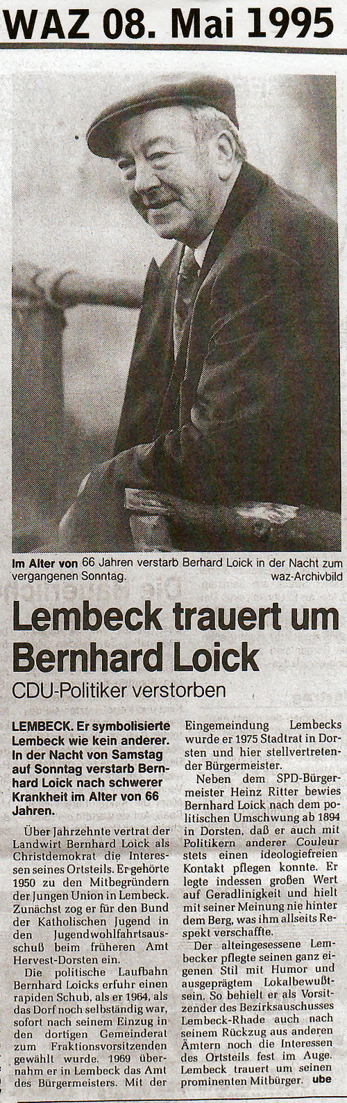 19950508_WAZ_Lembeck_trauert_um_Bernhard_Loick