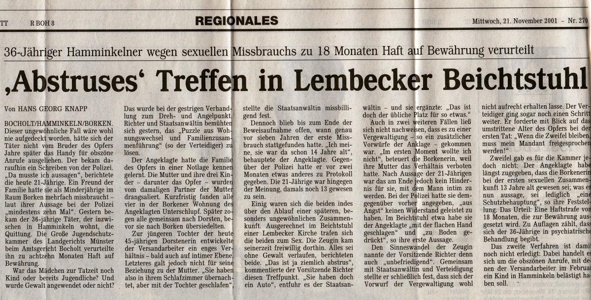 Bocholter Zeitung - 21.11.2001