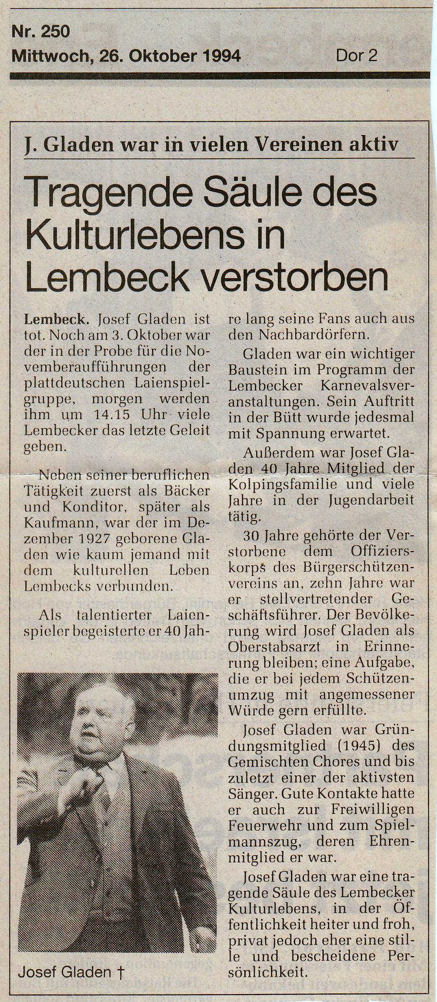 Dorstener Zeitung - 26.10.1994