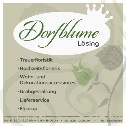 Dorfblume – Lösing