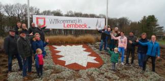 Verein 1000 Jahre Lembeck, Willkommenshügel, Willkommensbanner