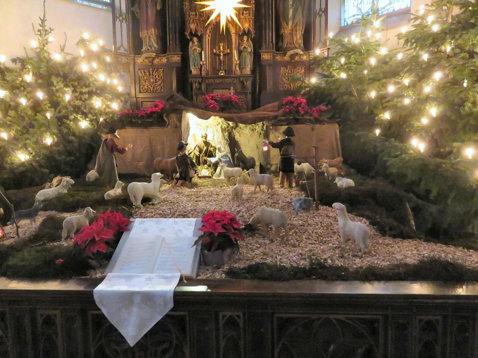 Weihnachten, Lembeck, Kirche, Krippe, St. Laurentius