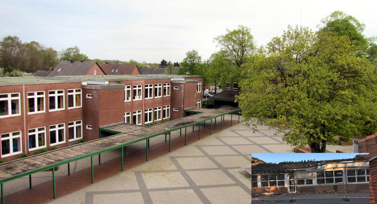 Laurentiusschule, Behindertenwerkstatt, Brand