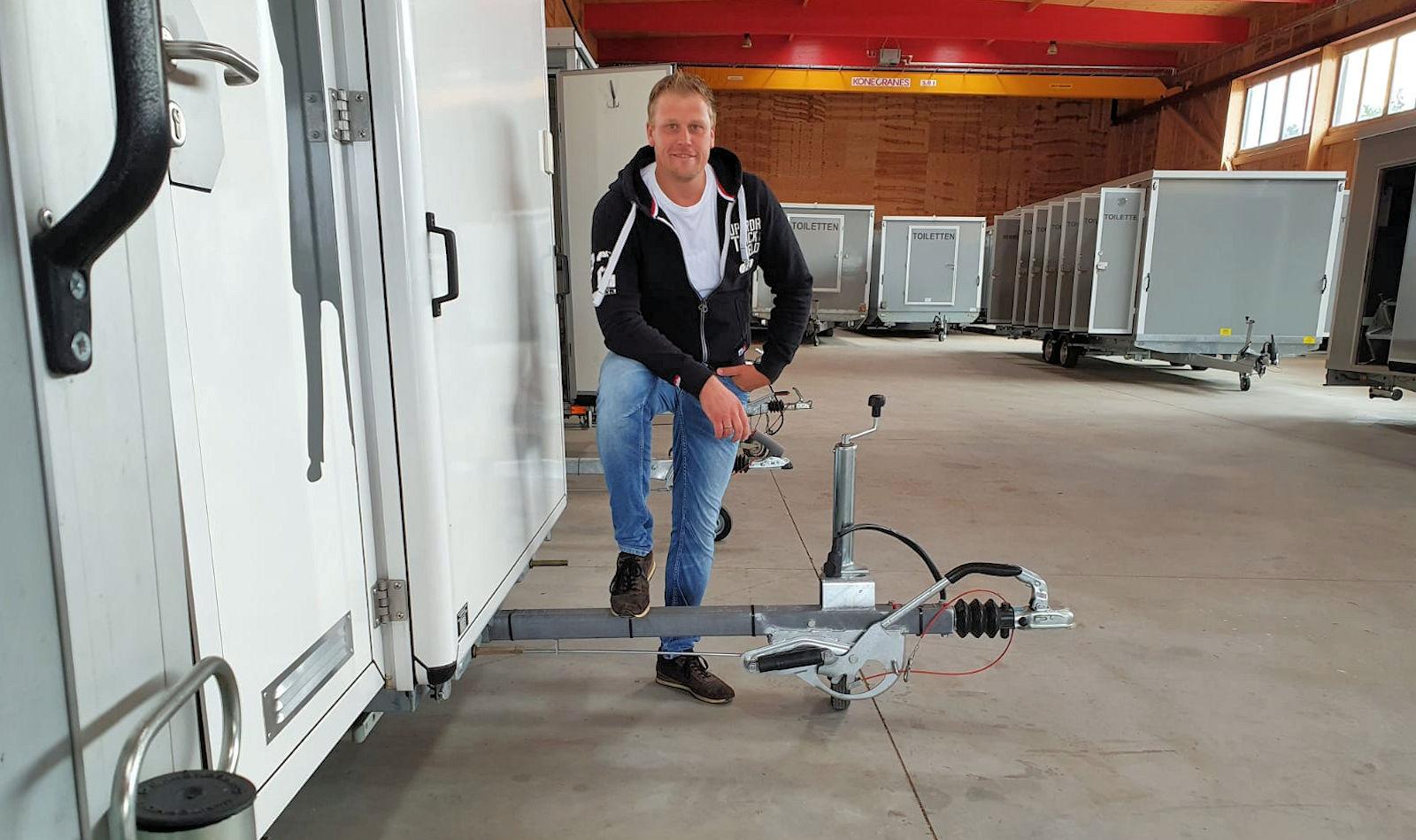 Thomas Sprenger, Toilettenwagenverleih