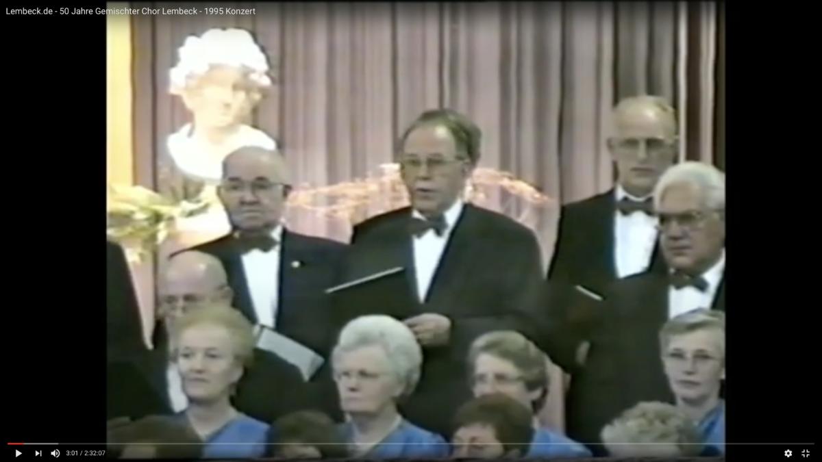 Gemischter Chor Lembeck, Konzert, 1995, Jubiläumskonzert
