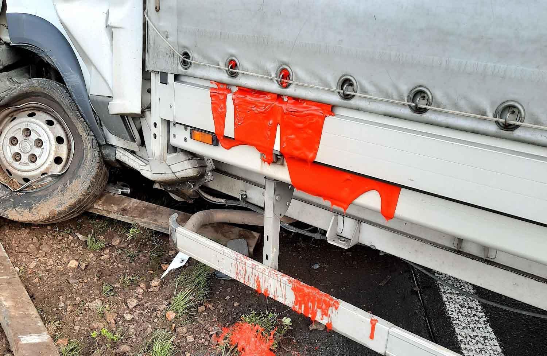 Kleintransporter, A 31, Unfall, Lembeck